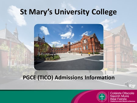 PGCE Admissions Information video