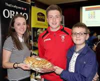 Eimear Magoran of Hovis/Ormo with St Mary's Christian Brothers Grammar School (CBGS) pupils Conor and Tiarnan McKenna
