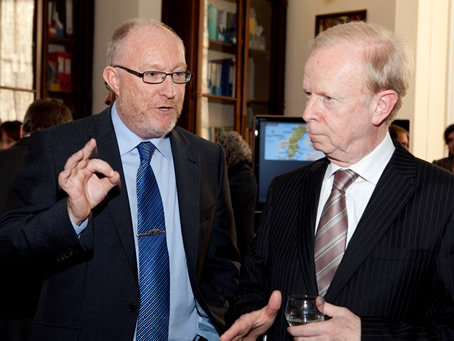 Sir Reg Empey, Minister for Employment and Learning with St Mary's Principal Professor Peter Finn