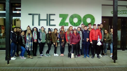 Business Studies students present their findings to the staff of Belfast Zoo