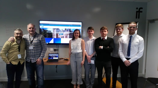 Business Studies students make presentations to representatives from the Innovation Factory