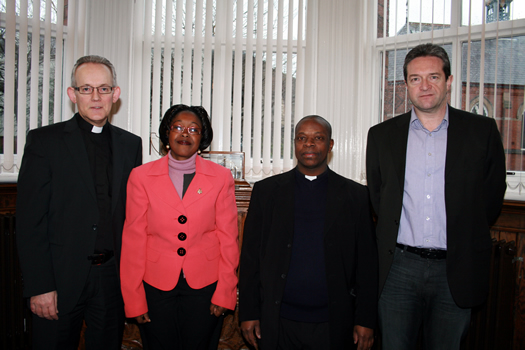 Rev Dr Paul Fleming, Mrs Sylvia Katete Gavigan, Fr Charles Lwanga Kaweesi and Dr Gerard McCann